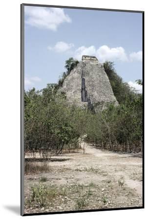 The 'Nohoch Mul' pyramid at Coba, Yucatan, Mexico, Maya, 6th-9th century-Werner Forman-Mounted Photographic Print