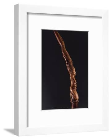 Ivory wand or tapper used in the Yoruba Ifa divination cult, Nigeria-Werner Forman-Framed Photographic Print