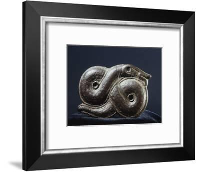 Viking brooch in the form of the World Serpent, Oland, Sweden-Werner Forman-Framed Photographic Print
