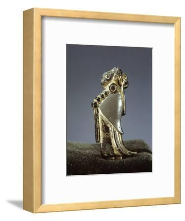 Silver-gilt Viking pendant usually identified as a Valkyrie, Oland, Sweden, 6th century-Werner Forman-Framed Photographic Print
