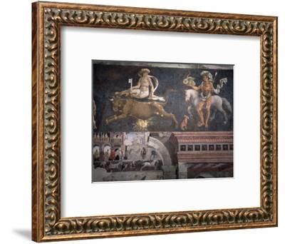 Allegorical representation of the signs of the zodiac by Francesco del Cossa, Italian, c1469-1470-Werner Forman-Framed Photographic Print