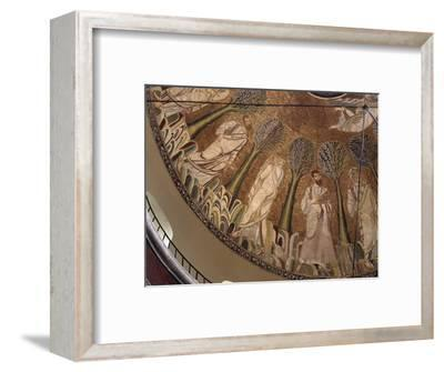 Interior view of the dome of the Byzantine church of St Sophia, Thessaloniki, Greece-Werner Forman-Framed Photographic Print