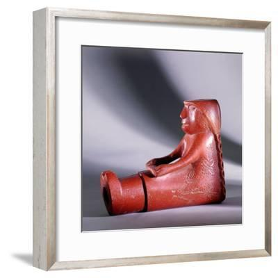 Pipe in the form of a seated woman-Werner Forman-Framed Giclee Print