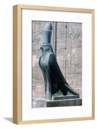 Figure of the god Horus in the form of a falcon, Temple of Horus, Edfu, Egypt, c251BC-c246BC-Unknown-Framed Giclee Print