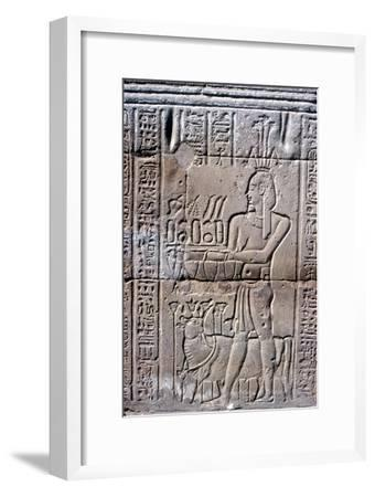 Relief of Hapi (Hapy) god of the Nile in Flood, Temple of Khnum, Ptolemaic & Roman Periods-Unknown-Framed Giclee Print