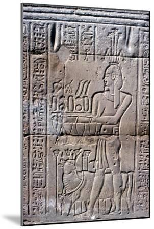 Relief of Hapi (Hapy) god of the Nile in Flood, Temple of Khnum, Ptolemaic & Roman Periods-Unknown-Mounted Giclee Print