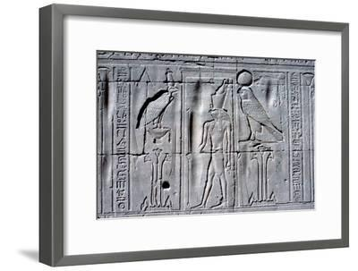 Relief of Horus (falcon-headed god), Temple of Horus, Edfu, Egypt, c251 BC - c246 BC-Unknown-Framed Giclee Print