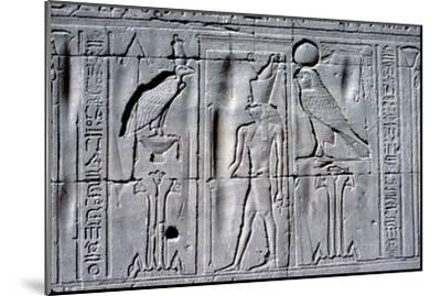 Relief of Horus (falcon-headed god), Temple of Horus, Edfu, Egypt, c251 BC - c246 BC-Unknown-Mounted Giclee Print