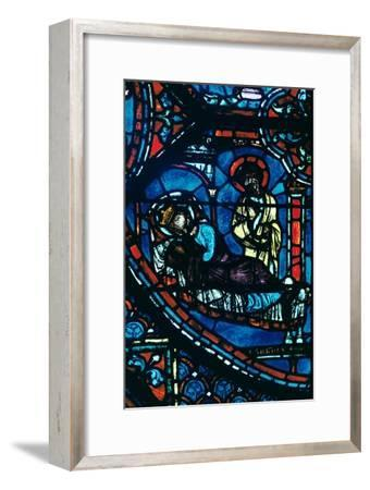 St James appears to Charlemagne in a dream, stained glass, Chartres Cathedral, France, c1225-Unknown-Framed Giclee Print