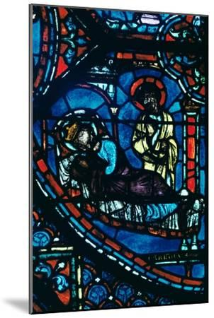 St James appears to Charlemagne in a dream, stained glass, Chartres Cathedral, France, c1225-Unknown-Mounted Giclee Print
