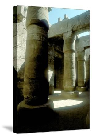 Pillars in the Great Hypostyle Hall, Temple of Amun, Karnak, Egypt, 14th-13th century BC-Unknown-Stretched Canvas Print