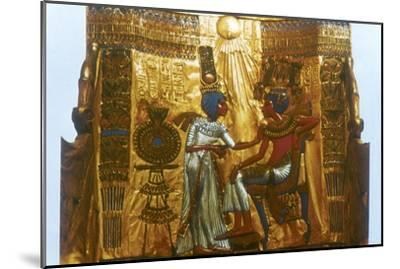 Golden throne of Tutankhamun, Ancient Egyptian, 18th dynasty, New Kingdom, 14th century BC-Unknown-Mounted Giclee Print