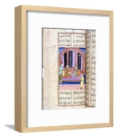 Nezami, Persian poet, recounting the story of Alexander the Great, 12th century (18th century)-Unknown-Framed Giclee Print