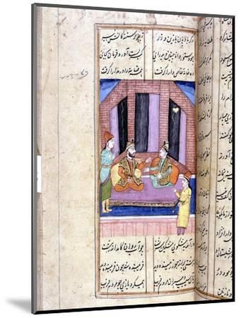 Nezami, Persian poet, recounting the story of Alexander the Great, 12th century (18th century)-Unknown-Mounted Giclee Print