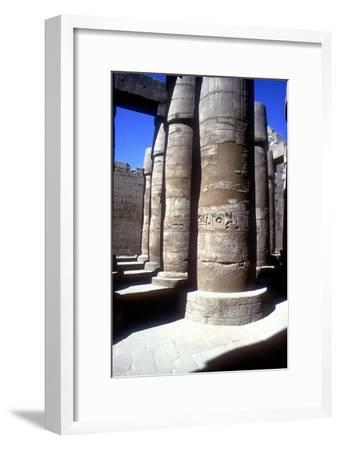 Pillars in the Great Hypostyle Hall, Temple of Amun, Karnak, Egypt, 14th-13th century BC-Unknown-Framed Giclee Print