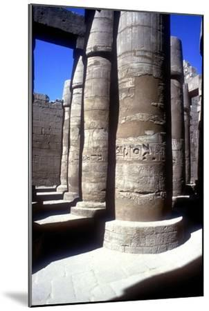 Pillars in the Great Hypostyle Hall, Temple of Amun, Karnak, Egypt, 14th-13th century BC-Unknown-Mounted Giclee Print