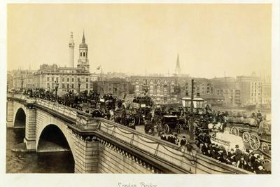 London Bridge, c1880-Unknown-Framed Photographic Print