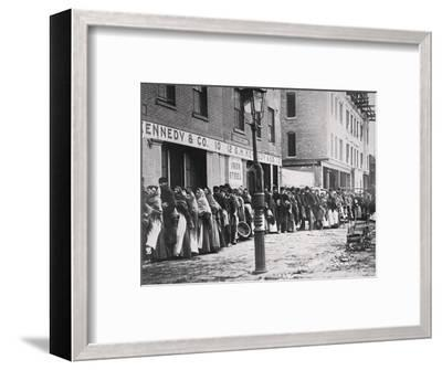 Coal strike, USA, 1902-Unknown-Framed Photographic Print