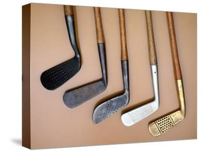 Early iron golf clubs-Unknown-Stretched Canvas Print