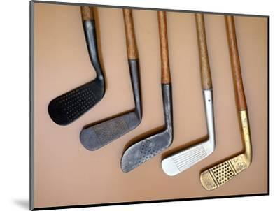 Early iron golf clubs-Unknown-Mounted Giclee Print