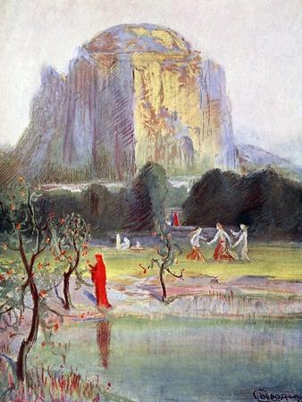'Freia's Garden', 1906-Unknown-Framed Giclee Print