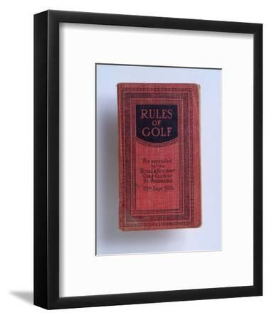 The Rules of Golf, 1920-Unknown-Framed Giclee Print