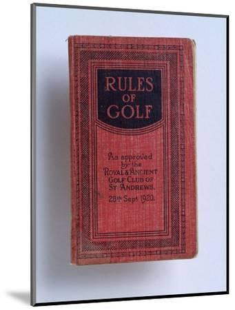 The Rules of Golf, 1920-Unknown-Mounted Giclee Print