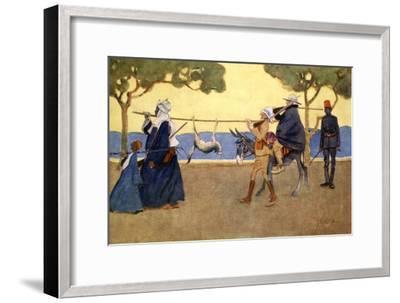 Big Game Hunters', 1908-Lance Thackeray-Framed Giclee Print