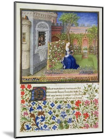 Emilia in her garden, 1468-Unknown-Mounted Giclee Print