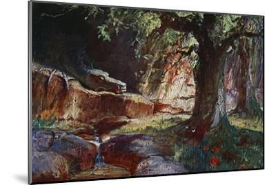 'Fafner in his Cave', 1906-Unknown-Mounted Giclee Print