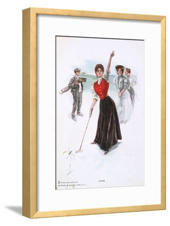 Fore !, illustration, c1900-Unknown-Framed Giclee Print