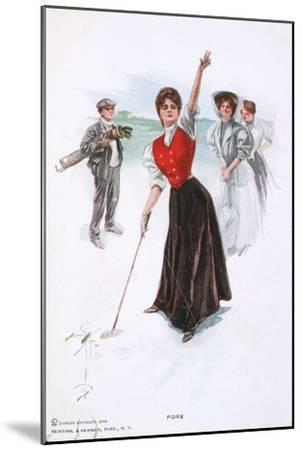 Fore !, illustration, c1900-Unknown-Mounted Giclee Print
