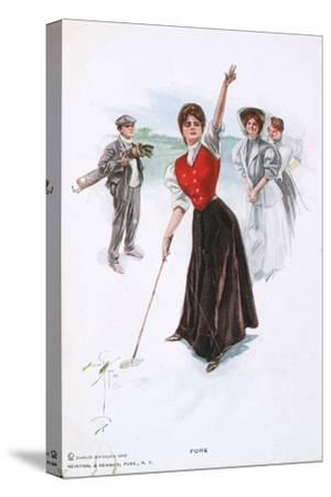 Fore !, illustration, c1900-Unknown-Stretched Canvas Print