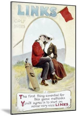 'The Links' postcard, 1905-Unknown-Mounted Giclee Print