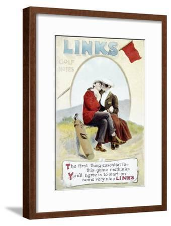 'The Links' postcard, 1905-Unknown-Framed Giclee Print