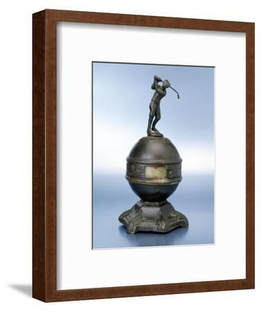 Statuette of golfer, c1910-Unknown-Framed Giclee Print