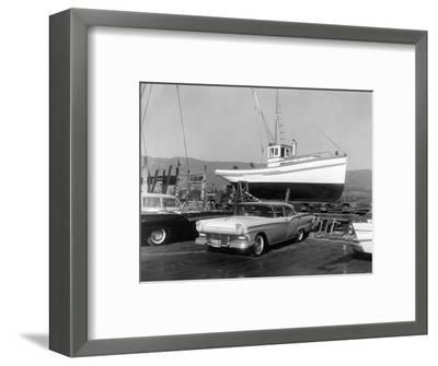 1957 Ford Fairlane, (c1957?)-Unknown-Framed Photographic Print