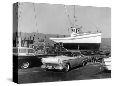 1957 Ford Fairlane, (c1957?)-Unknown-Stretched Canvas Print