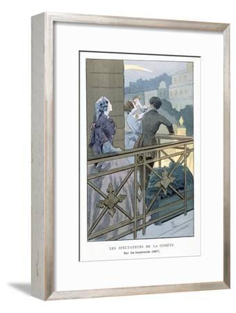 People watching a comet, 1857-Unknown-Framed Giclee Print