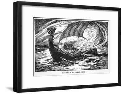 'Balder's Funeral Ship', 1925-Unknown-Framed Giclee Print