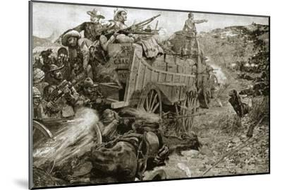 The Matabele War, 1893 (1901)-Unknown-Mounted Giclee Print