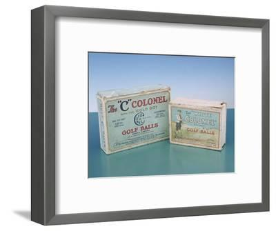 Colonel golf ball boxes, c1910-Unknown-Framed Giclee Print