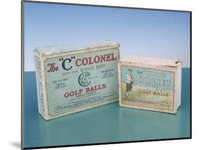 Colonel golf ball boxes, c1910-Unknown-Mounted Giclee Print