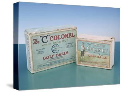 Colonel golf ball boxes, c1910-Unknown-Stretched Canvas Print