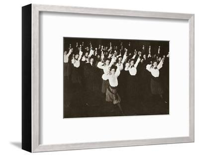 YWCA members exercising, 1910s-Unknown-Framed Photographic Print