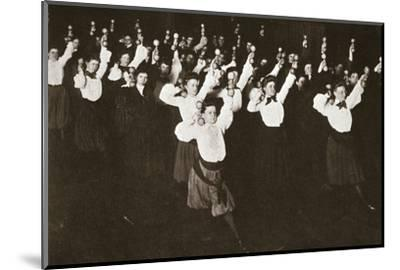 YWCA members exercising, 1910s-Unknown-Mounted Photographic Print