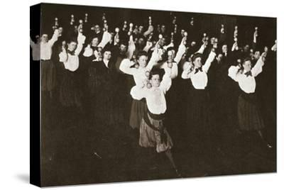 YWCA members exercising, 1910s-Unknown-Stretched Canvas Print