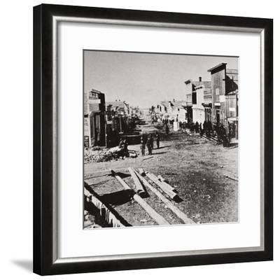 Leadville, Colorado, USA, 1870s-Unknown-Framed Photographic Print