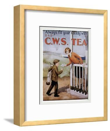 CWS Tea advertising card, 1920s-Unknown-Framed Giclee Print