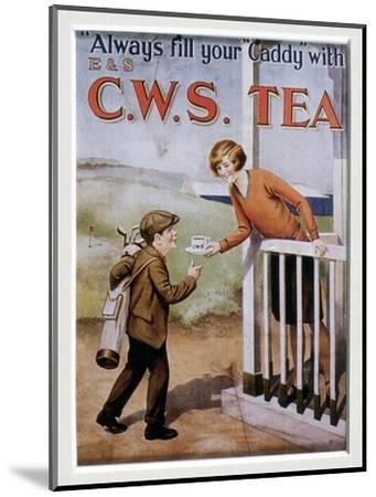 CWS Tea advertising card, 1920s-Unknown-Mounted Giclee Print